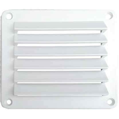 "Picture of Leisure Time  White ABS 5"" Square Wall Vent w/ Fixed Louvers DV55W 22-3555"