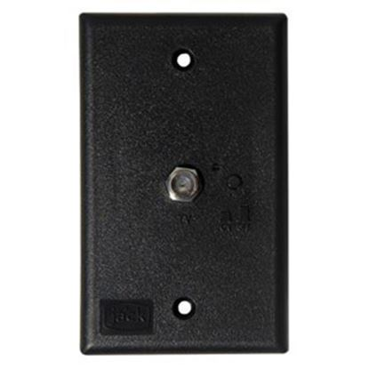 Picture of King  Black Single Antenna Power Supply Receptacle PB1001 24-0254