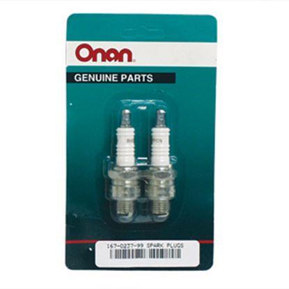 Picture of Cummins Onan  2-Pack Spark Plug for Cummins Generators 167-0237-99 48-2061