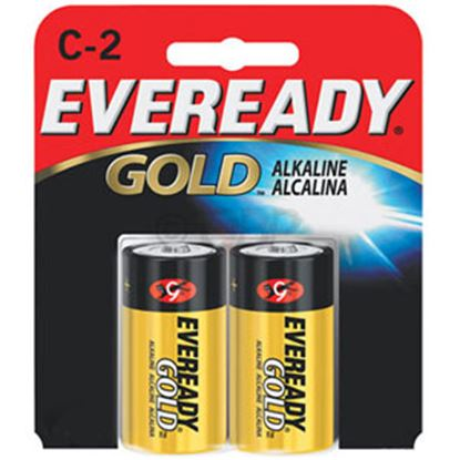 Picture of Eveready Gold (TM) 1.5V Zn-MnO2 C-Type Alkaline Battery A93BP-2 69-5095
