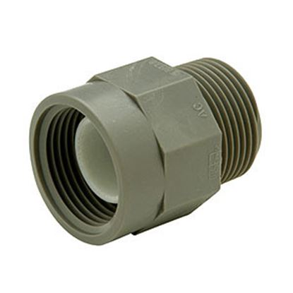 """Picture of Lasalle Bristol QEST 3/4"""" Male Thread x 1/2"""" Female Thread Gray Fresh Water Adapter Fitting 64QC43TF 69-6026"""