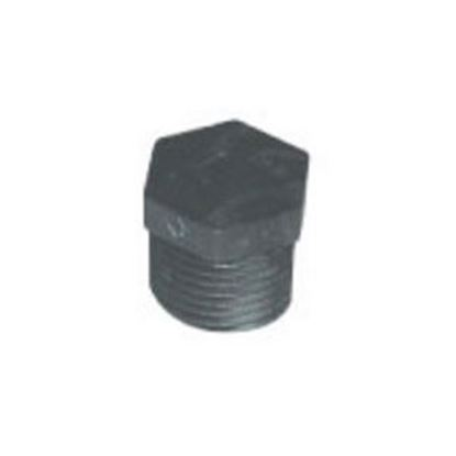"""Picture of Lasalle Bristol  Gray ABS 1/2"""" MPT Pipe Plug Fitting 70TP4008 69-6030"""