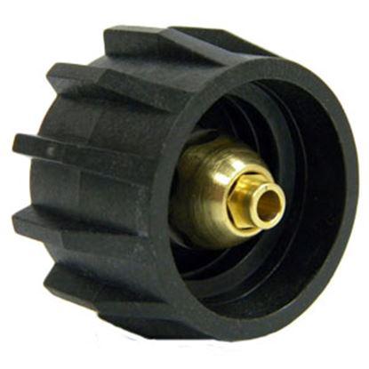 "Picture of MB Sturgis  Black Type 1 x 1/4"" MNPT Brass LP Hose Connector w/Shut Off Valve 204024PKG 69-6651"