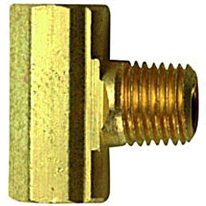 "Picture of MB Sturgis  1/4"" FIF x 1/4"" FIF x 1/4"" MNPT Brass LP Adapter Fitting 402142PKG 69-6656"