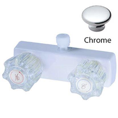"Picture of Relaqua  4"" Chrome Plated Plastic Shower Valve w/Clear Knob AL-4031C 69-7073"