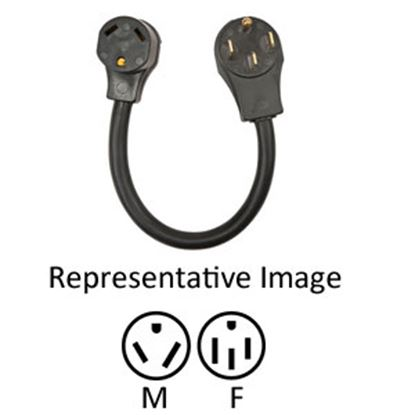 "Picture of Surge Guard  18"" 30M/50F Power Cord Adapter 30AM50AF18 69-7641"