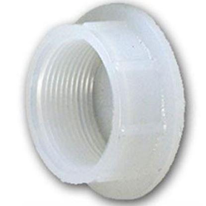 """Picture of Ameri-Kart  White Polyethylene 1-1/4"""" Raised Slip Holding Tank Fitting 061 69-8376"""