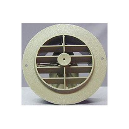 """Picture of D&W INC.  Off White 4"""" Round 360 Deg Rotation Heating/ Cooling Register w/ Damper 3840ROW 69-8747"""