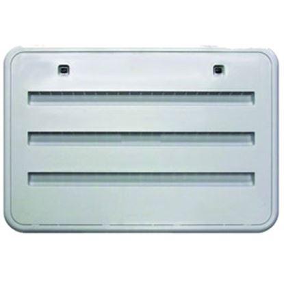 "Picture of Norcold  Bright White Plastic 21-1/2""W x 13-3/4""H Radius Refrigerator Side Vent 621156BW 69-9403"