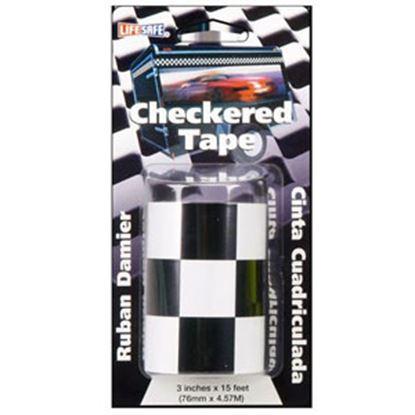 "Picture of Top Tape  Black/ White 3"" x 15' L Anti-Slip Checkered Tape RE7016 69-9969"
