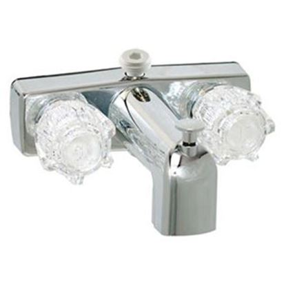 "Picture of Phoenix Faucets  Chrome w/Clear Knobs 4"" Lavatory Faucet PF213334 70-6714"