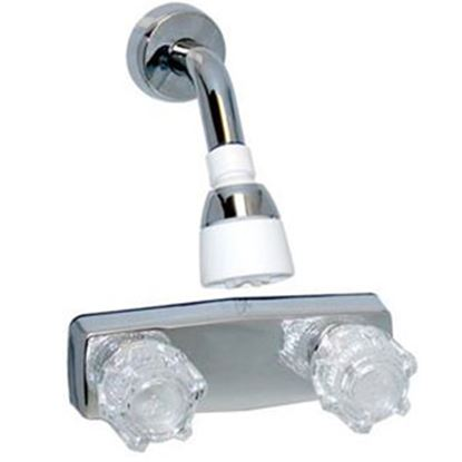 """Picture of Phoenix Faucets  4"""" Polished Chrome Plated Plastic Shower Valve w/Clear Knobs PF213344 70-9450"""