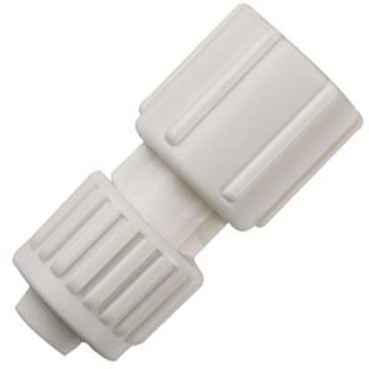 """Picture of Flair-It  1/2"""" PEX x 1/2"""" FBSP Swivel End Nut White Plastic Fresh Water Straight Fitti 16873 72-0803"""