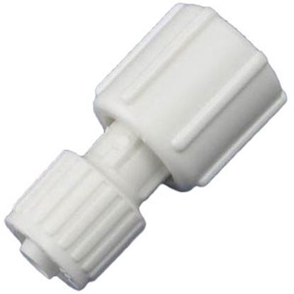 """Picture of Flair-It  3/8"""" PEX x 1/2"""" FBSP Swivel End Nut White Plastic Fresh Water Straight Fitti 16874 72-0804"""