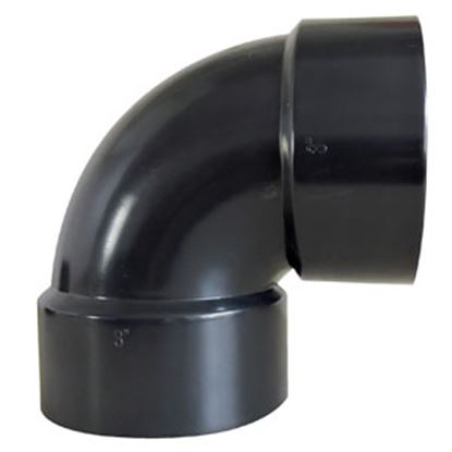 "Picture of Valterra  1-1/2"" Hub Plastic 90Deg Short Turn Waste Valve Fitting D50-2876C 89-8350"