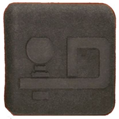 "Picture of Draw-Tite  1-1/4"" Black D Logo Rubber Hitch Cover 5362 94-0397"