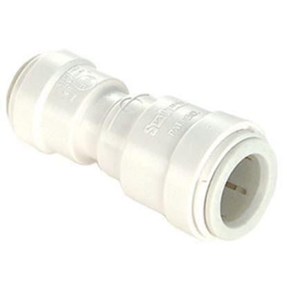 "Picture of Sea Tech 35 Series 1/2"" Fem QC Copper Tube x 3/8"" Fem QC Copper Tube Off-Wht Polysulfone Fresh 013516-1008 95-2844"