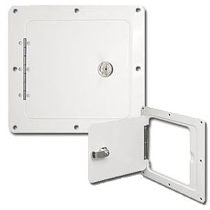 "Picture of Ultra-Fab  White 5""RO Lockable Spare Tank Access Door w/Frame 48-979009 95-3150"