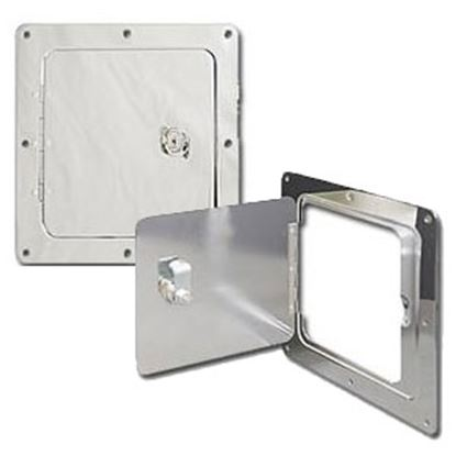 "Picture of Ultra-Fab  Chrome Plated Silver 5""RO Lockable Spare Tank Access Door 48-979010 95-3151"